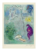 MARC CHAGALL | DAPHNIS DISCOVERS CHLOÉ (MOURLOT 310; SEE C. BKS. 46)