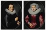 Portrait of a man; Portrait of a woman