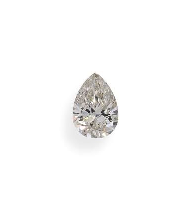 A 1.07 Carat Pear-Shaped Diamond, K Color, SI1 Clarity