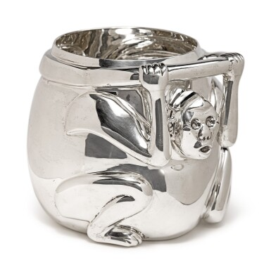 View 2. Thumbnail of Lot 320.  A MEXICAN SILVER MONKEY-FORM ICE BUCKET, TANE, MEXICO CITY, LATE 20TH CENTURY.