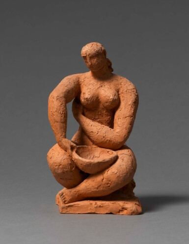 View 1. Thumbnail of Lot 6. FRANK DOBSON, R.A. | BATHER, STUDY FOR TOILET.