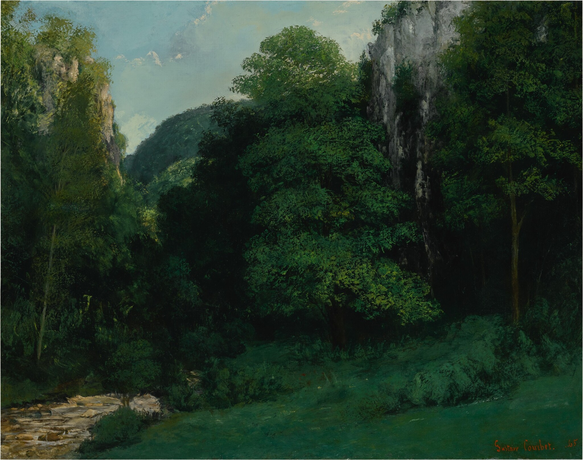 View full screen - View 1 of Lot 9. GUSTAVE COURBET | PAYSAGE FRANC-COMTOIS OR LE VALLON VERT.