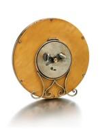 A FABERGÉ SILVER-GILT AND GUILLOCHÉ ENAMEL CLOCK, WORKMASTER HENRIK WIGSTRÖM, ST PETERSBURG, 1908-1917
