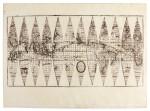 Coronelli, engraved globe gores, terrestrial and celestial, [1692?-1700]