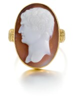 ITALIAN, LATE 18TH CENTURY | CAMEO WITH A BUST OF A ROMAN EMPEROR
