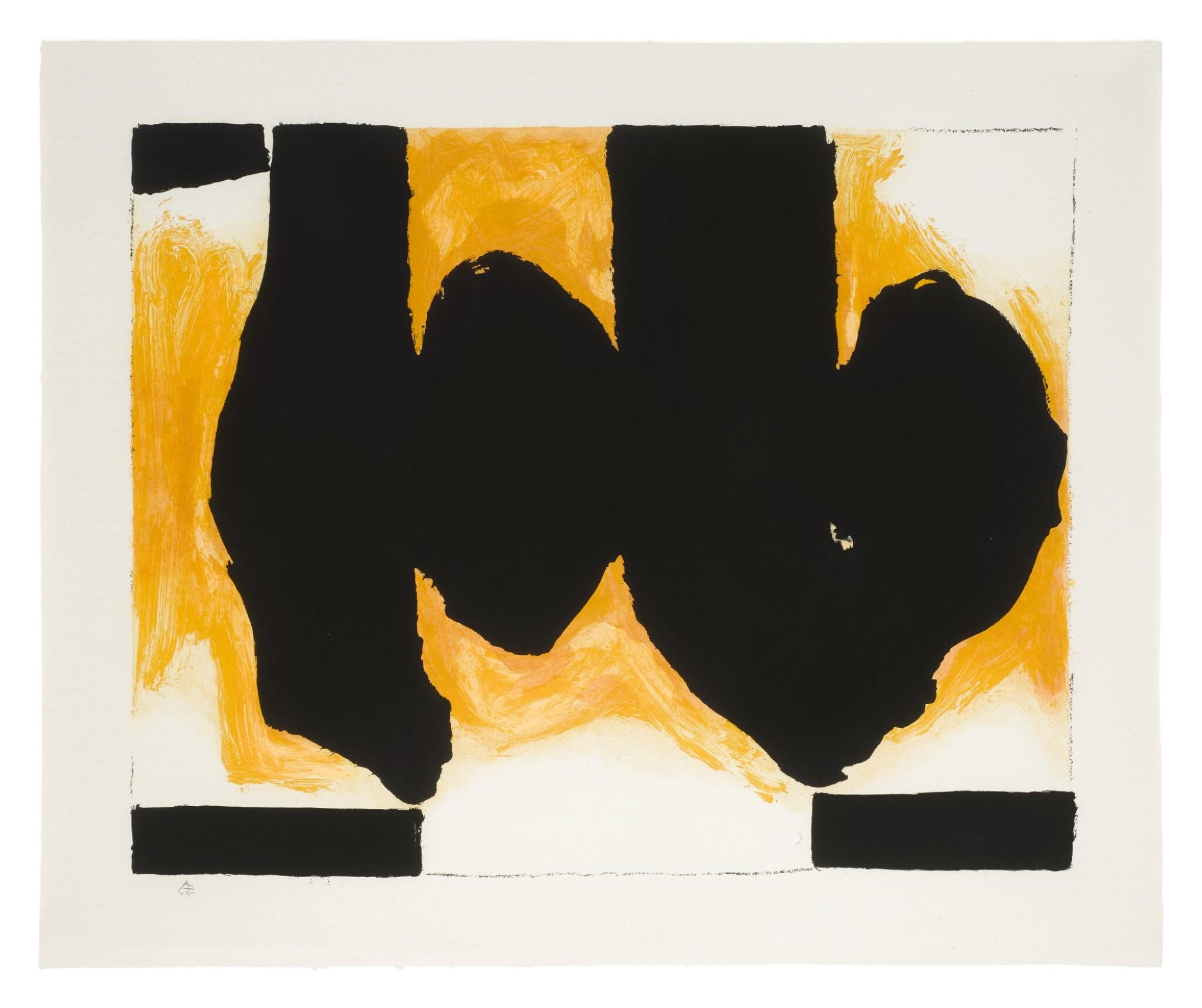 View full screen - View 1 of Lot 82. ROBERT MOTHERWELL    BURNING ELEGY (WALKER ART CENTER 520).