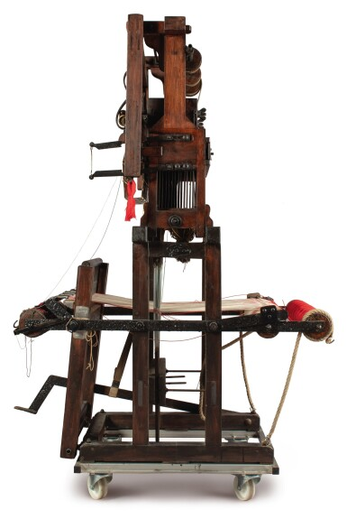 View 2. Thumbnail of Lot 30. A PORTABLE JACQUARD LOOM.