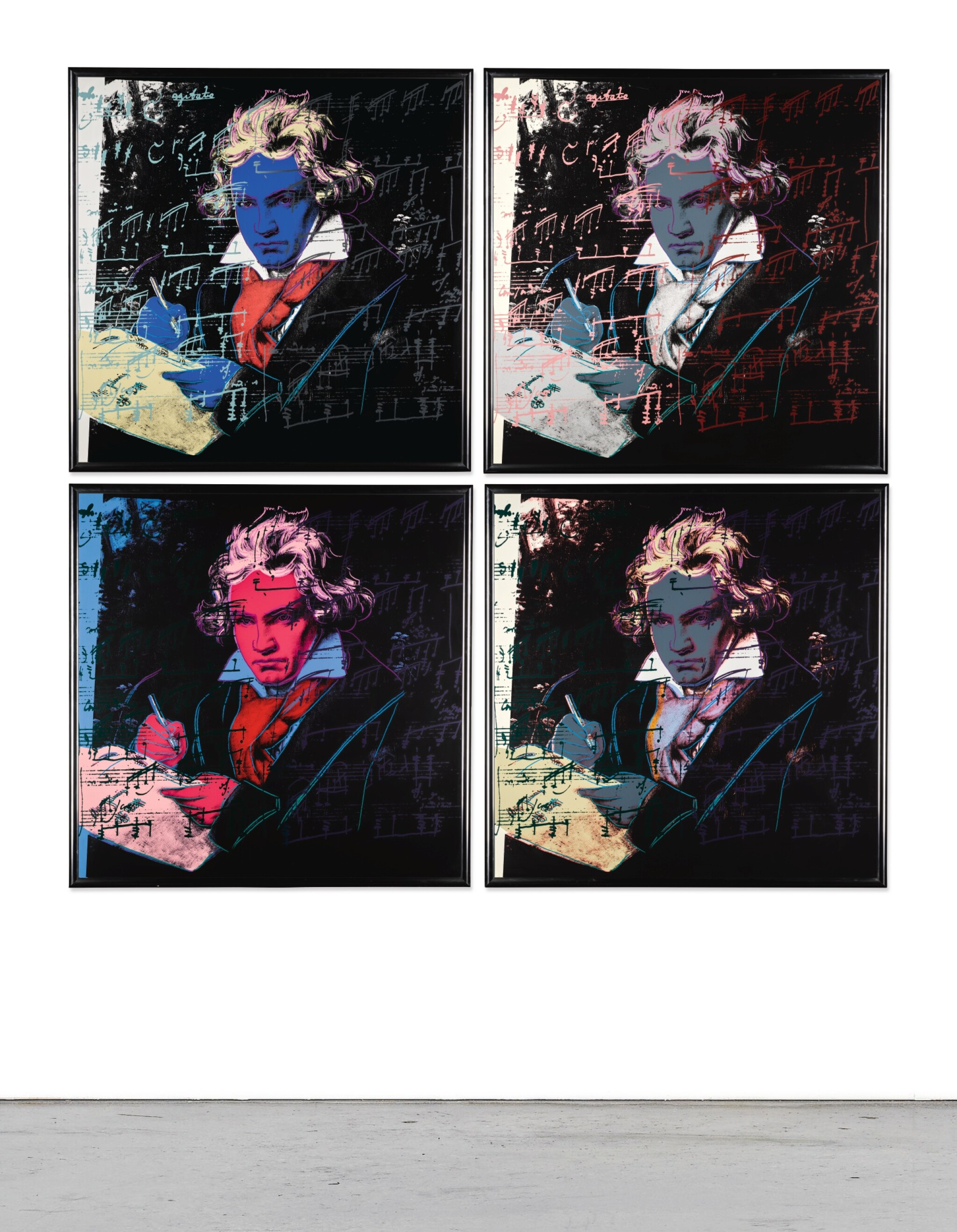 View full screen - View 1 of Lot 188. ANDY WARHOL | BEETHOVEN (F. & S. II.390-393).