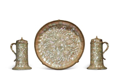 View 1. Thumbnail of Lot 755. Set of Two Ewers and a Basin.