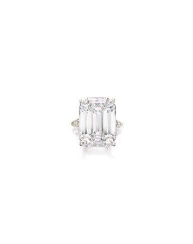 View 1. Thumbnail of Lot 1694. Sotheby's Diamonds   'Basket' Diamond Ring   「蘇富比鑽石」   'Basket' 21.14克拉 方形 D色 完美無瑕 鑽石 戒指.
