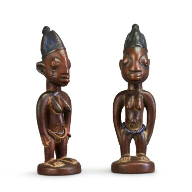 View 2. Thumbnail of Lot 151. Nigeria, Yoruba Peoples, circa 1900   Ere Ibeji Figures.