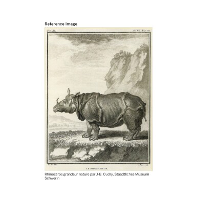 View 7. Thumbnail of Lot 10. A GILT-BRONZE MOUNTED PATINATED BRONZE RHINOCEROS 'CORNE VERTE' MUSICAL TABLE CLOCK, LOUIS XV, BY JEAN-JOSEPH DE SAINT-GERMAIN, CIRCA, 1750   PENDULE À MUSIQUE AU RHINOCÉROS EN BRONZE PATINÉ, DORÉ ET CORNE VERTE D'ÉPOQUE LOUIS XV, VERS 1750, PAR JEAN-JOSEPH DE SAINT-GERMAIN.