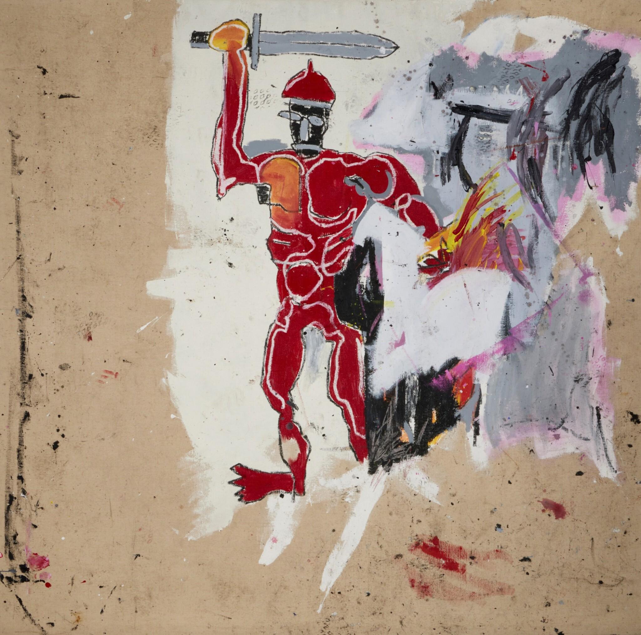 View full screen - View 1 of Lot 1118. Jean-Michel Basquiat 尚・米榭・巴斯基亞   Untitled (Red Warrior) 無題(紅戰士)     .