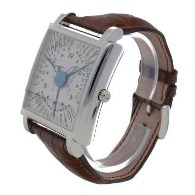 View 2. Thumbnail of Lot 419. CONTINENTES STAINLESS STEEL MULTI TIME-ZONE WRISTWATCH CIRCA 2005.