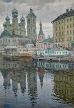 View of Vasilievsky Island with the Church of the Annunciation