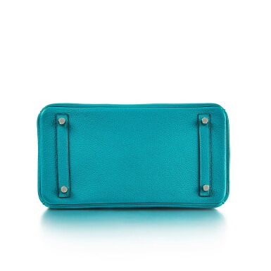 View 5. Thumbnail of Lot 8332. Bleu Paon Togo Birkin 30 Palladium Hardware, 2016   愛馬仕孔雀藍 Togo 小牛皮30公分柏金包,配鍍鈀金屬件,2016年.