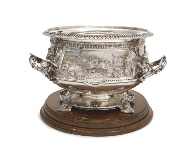 View 4. Thumbnail of Lot 265.  A VICTORIAN SILVER LARGE PUNCH BOWL, JOHN HUNT & ROBERT ROSKELL, LONDON, 1881.
