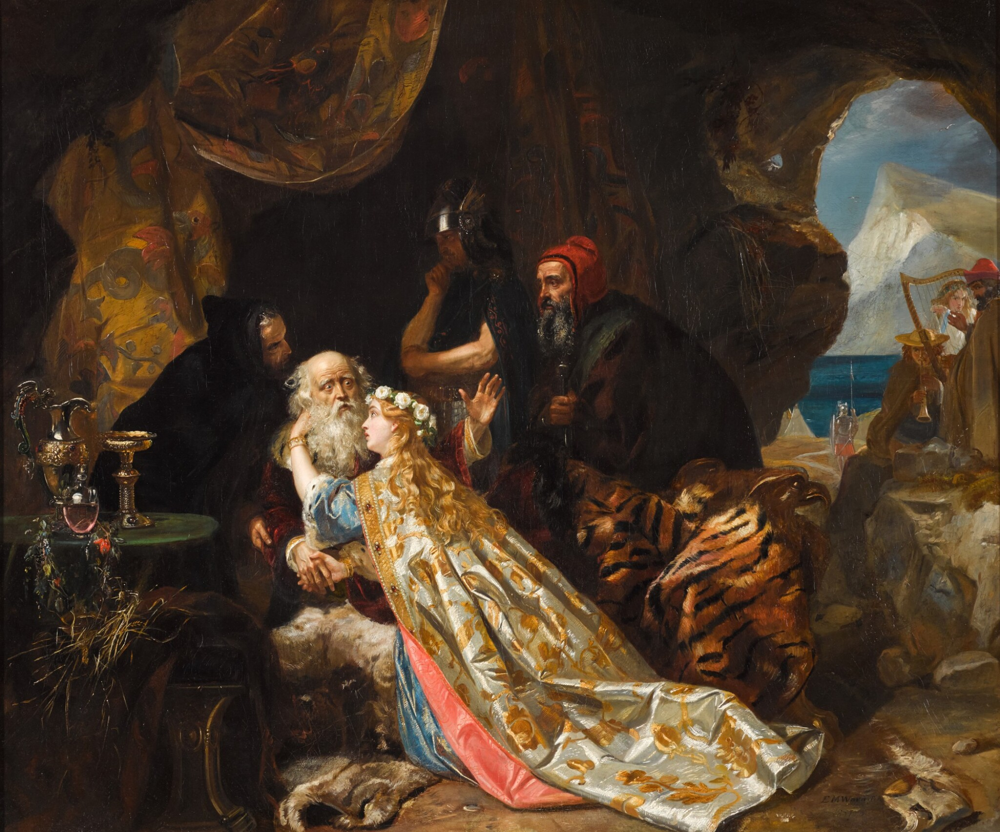 View full screen - View 1 of Lot 101. King Lear and Cordelia.