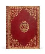 Six sonates à violon seul. [Vers 1770]. In-4. Maroquin rouge aux armes de la ctsse de Provence.
