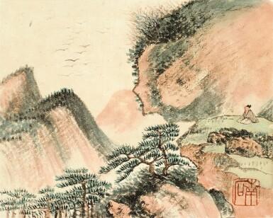 View 3. Thumbnail of Lot 3015. PU JIN; PU ZUO 溥伒、溥佐 | Landscapes and Horses 山水駿馬合璧冊.