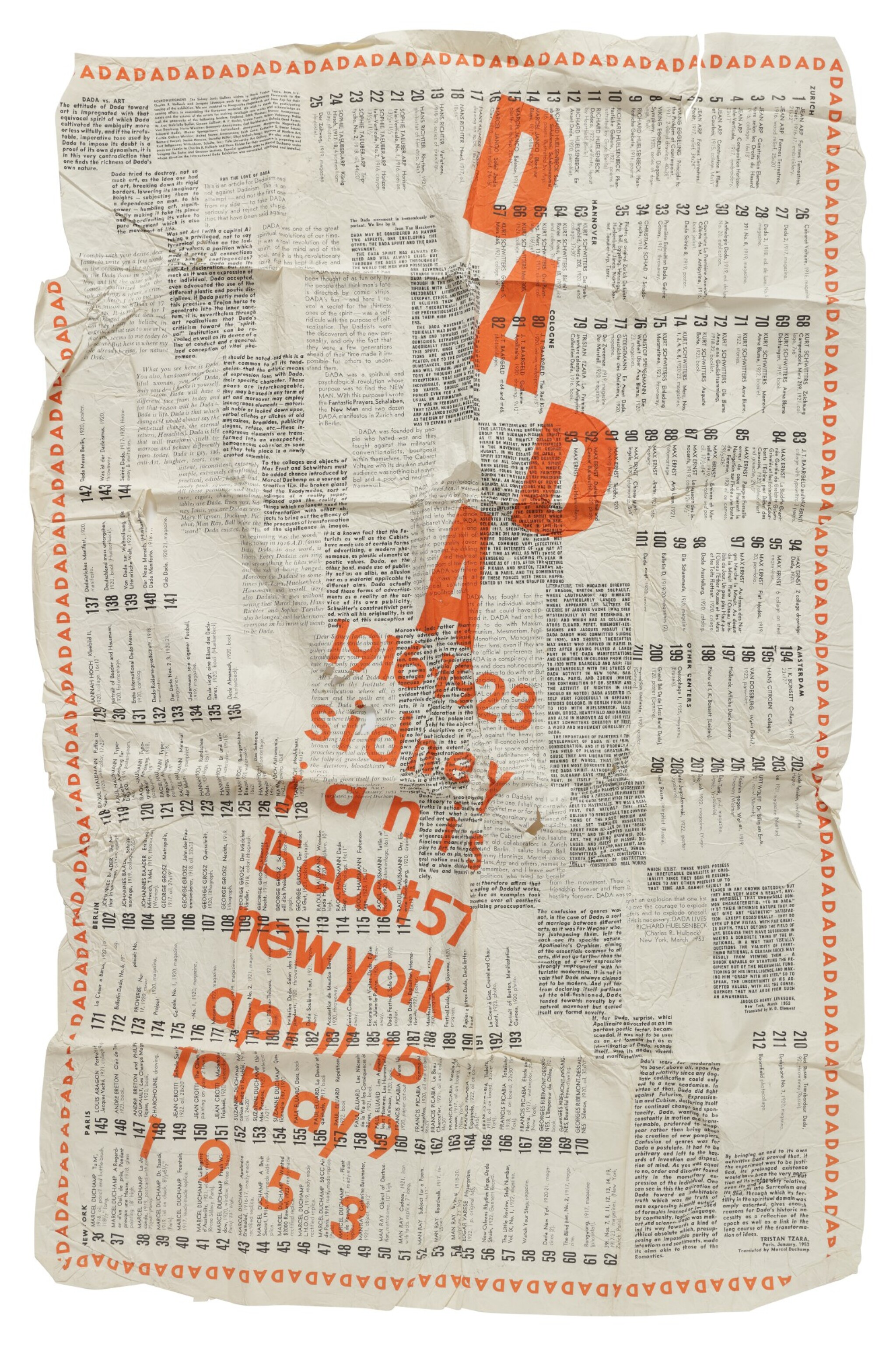 View full screen - View 1 of Lot 11. DADA: 1916–1923. NEW YORK: SIDNEY JANIS GALLERY, 1953.