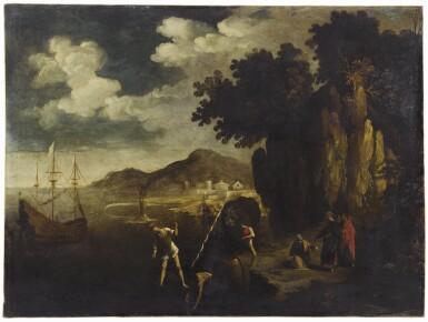 EMILIAN SCHOOL, 17TH CENTURY | A coastal landscape with the calling of Saint Peter