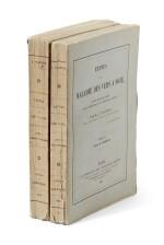 Pasteur, Études sur la maladie des vers a soie, Paris, 1870, 2 volumes, original printed wrappers