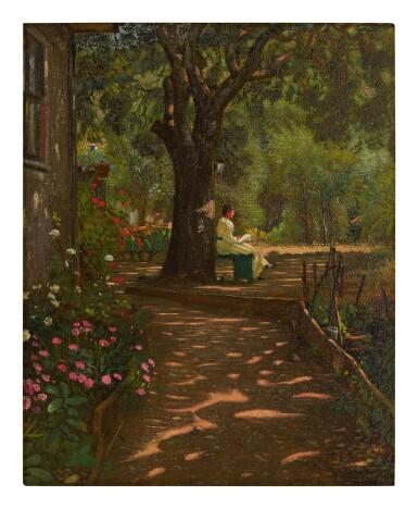WALTER I. COX | LADY UNDER A TREE