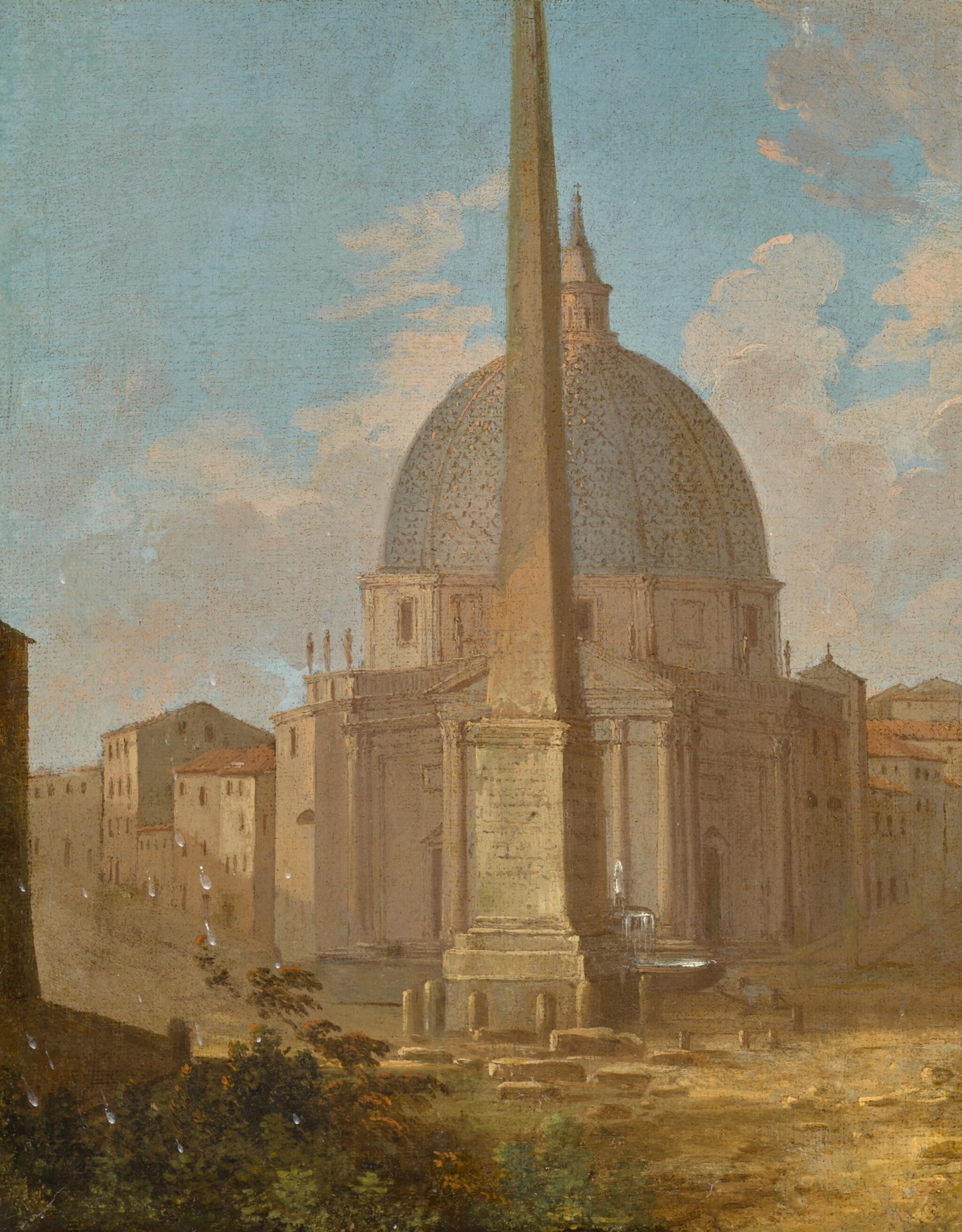 View 1 of Lot 162. A capriccio view of Santa Maria di Montesanto and the Flaminio obelisk, Piazza del Popolo, Rome.