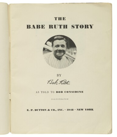 """View 3. Thumbnail of Lot 159. RUTH, GEORGE HERMAN (""""BABE"""") 