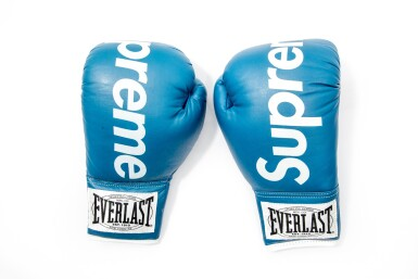 View 1. Thumbnail of Lot 5. SUPREME EVERLAST BOXING GLOVES BLUE.