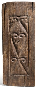 A TULUNID CARVED WOOD DOOR PANEL, EGYPT, 9TH/10TH CENTURY