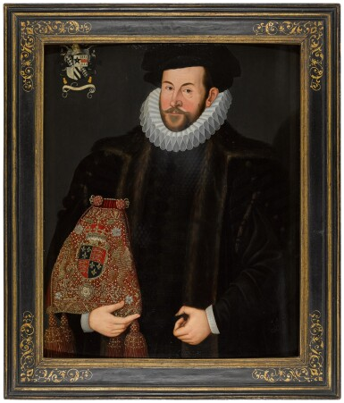 View 3. Thumbnail of Lot 67. THE UNKNOWN FOLLOWER OF HIERONYMUS CUSTODIS | PORTRAIT OF SIR JOHN PUCKERING OF KEW, SURREY AND WESTON (C. 1544–1596), SPEAKER OF THE HOUSE OF COMMONS AND LORD KEEPER OF THE PRIVY SEAL.