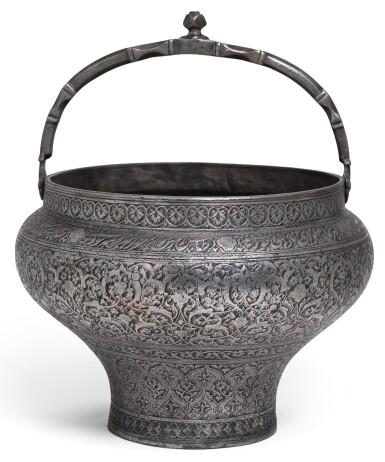 A SAFAVID TINNED-COPPER PAIL, PERSIA, LATE 16TH/17TH CENTURY