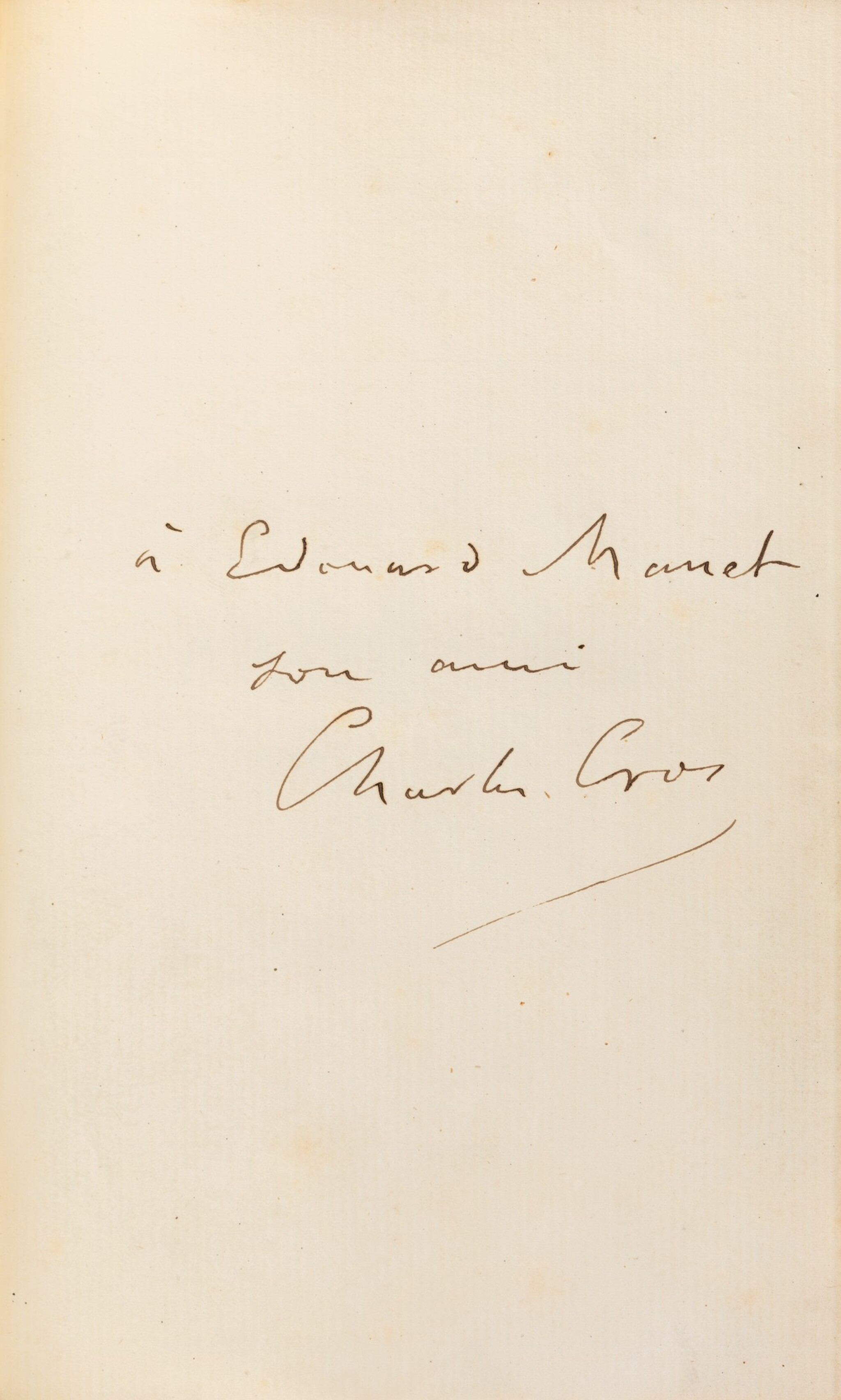 View full screen - View 1 of Lot 86. Le Coffret de santal. 1879. Veau époque. Exemplaire de son ami Manet, dédicataire de deux poèmes..