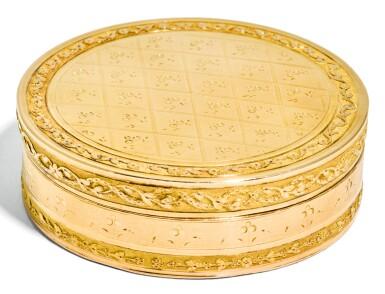 A TWO-COLOUR GOLD SNUFF BOX, PROBABLY GENEVA, 1798-1809