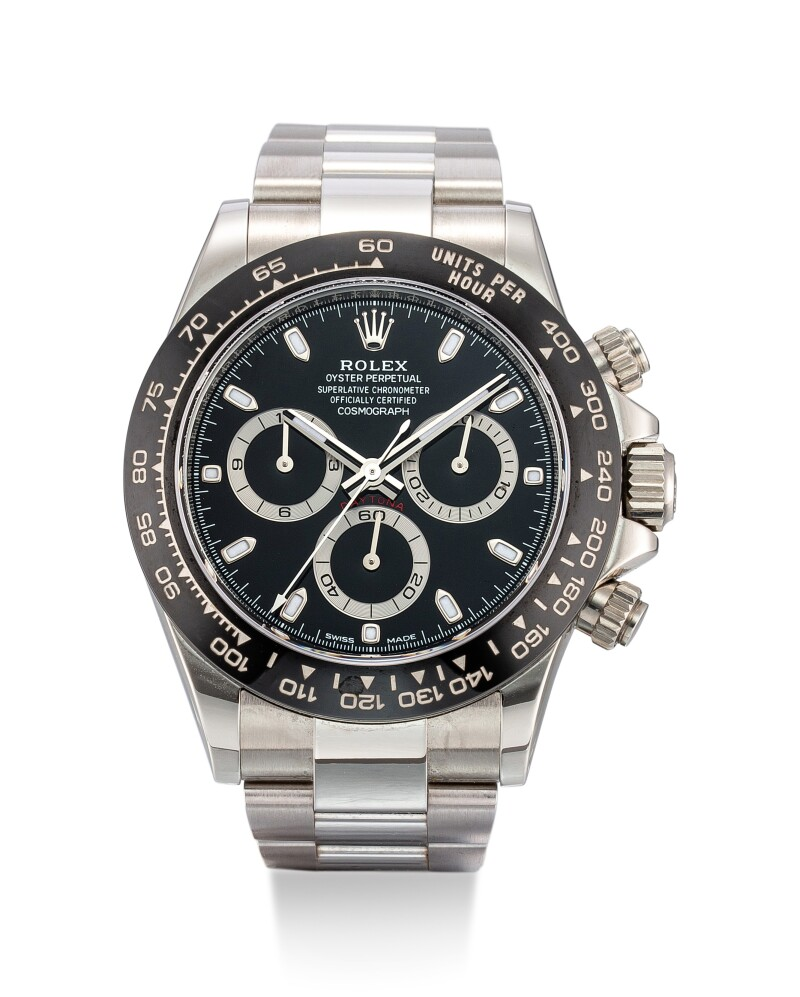 Cosmograph Daytona, Reference 116500 A Stainless Steel Chronograph Wristwatch With Ceramic Bezel and Bracelet, Circa 2019