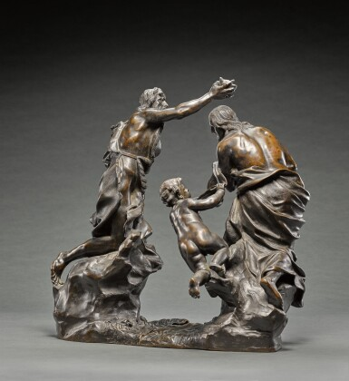 View 4. Thumbnail of Lot 58. After a model by Alessandro Algardi (1598–1654) | Italian, Rome, 17th century | The Baptism of Christ.