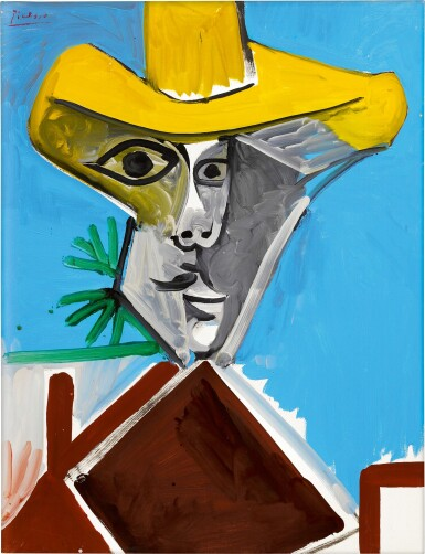 View 1. Thumbnail of Lot 12.  Pablo Picasso 巴布羅・畢加索 | Buste d'homme 男子半身像.