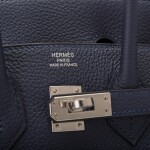 Hermès Bleu Nuit Birkin 25cm of Togo Leather with Palladium Hardware