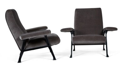 View 2. Thumbnail of Lot 179. ROBERTO MENGHI | PAIR OF HALL ARMCHAIRS FOR ARTFLEX.