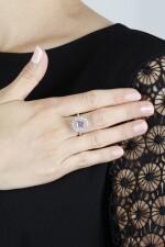 FANCY DEEP PURPLE-PINK DIAMOND RING