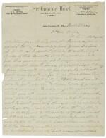 Garrett, Pat. Autograph letter signed, 22 March 1896, to his wife, Apolinaria Gutierrez Garrett