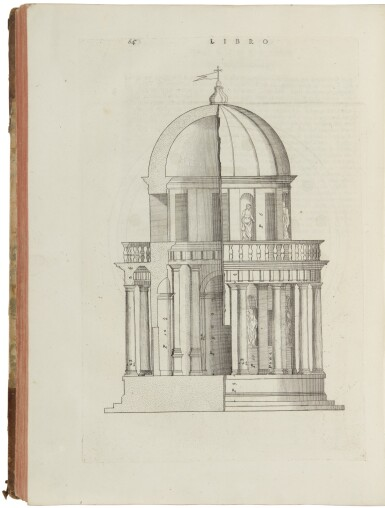 View 2. Thumbnail of Lot 174. PALLADIO, ANDREA | I Quattro Libri Dell'Architettura.Venice: Dominico de' Franceschi, 1570 [i.e. Venice: 1768].
