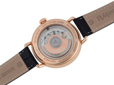 View 3. Thumbnail of Lot 74. BELL & ROSS   VINTAGE WW1 HEUERE SAUTANTE LIMITED EDITION PINK GOLD JUMPING HOUR WRISTWATCH WITH POWER RESERVE INDICATION CIRCA 2013.