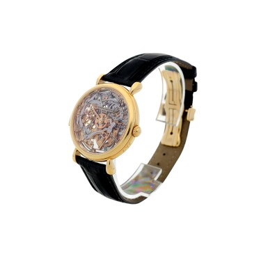 View 3. Thumbnail of Lot 182. REFERENCE 30030 A PINK GOLD SKELETONIZED MINUTE REPEATING WRISTWATCH, CIRCA 1995.