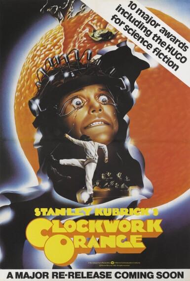 A Clockwork Orange (1971, 1972 UK release) poster, British