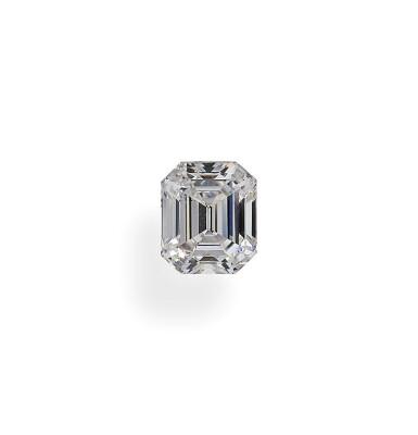 View 1. Thumbnail of Lot 18. A 1.12 Carat Emerald-Cut Diamond, D Color, SI1 Clarity.