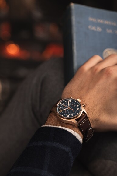 View 4. Thumbnail of Lot 1. IWC Schaffhausen   Pilot's Watch 'Le Petit Prince', Reference IW392202, Limited Edition 5N Gold Perpetual Calendar Flyback Chronograph Wristwatch with Moon-Phases and 4-Digit Year Indication, circa 2019.
