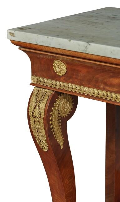 View 3. Thumbnail of Lot 92. An Empire Gilt Bronze-Mounted Mahogany Console, Circa 1815.